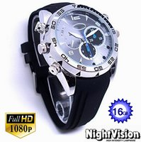 Wholesale 16gb Night Vision Recorder Watch - 16GB Mini Waterproof Hidden Camcorders Spy Camera Watch DVR Hd 1080p Video Recorder With Ir Night Vision