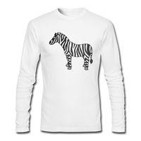 uzun tişört zürafa toptan satış-Zürafa Baskı Erkek T-shirt Uzun Kollu ve Yuvarlak Yaka T-Shirt ile İlkbahar ve Sonbahar T-Shirt için