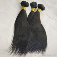 Wholesale Wholesales Remi Hair - Top Silky Goddess remi Hair Weft Weaving Milk Way Unprocessed Peruvian Straight Cheap Humano Hair Weave 100g Bundle 3 Pieces lot