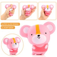 Wholesale 12cm Baby Dolls - 20Pcs Lot 12CM Kawaii Cartoon Mouse Baby Doll Squishy Slow Rising Jumbo Hamster Phone Straps Pendant Charm Scented Bread Cake Kid Toy Gift