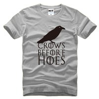 Wholesale Game Thrones 4xl - 2016 Newest Summer Fashion Leisure Sports Men Men's T-shirt TV Rights Play Game Of Thrones Crows Before Hoes