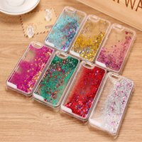 Wholesale iphone dynamic sand case - Moving Stars Transparent Hard PC Cover Dynamic Liquid Glitter Sand D Stars Back Case Cover for iphone samsung colorful
