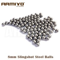 Wholesale Hunting Slingshot Arrow - Armiyo 200pcs lot 6mm 8mm Diameter Slingshot Sling Shot Stainless Steel Balls For Hunting Shooting Compound Bow Arrow