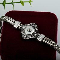Wholesale Vintage Jewellry Charms Wholesale - Twsit chain 12mm button snap metal vintage noosa bracelet ginger snap jewellry for women interchangeable adjustable T knot