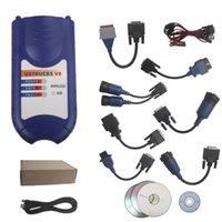 Wholesale Nexiq Bluetooth - Bluetooth Version VXTRUCKS V8 USB Link Wireless Diagnose Interface with All Adapters(blue) work as Nexiq 125032 USB LINK Adapter