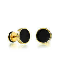 Wholesale Fake Gold Jewelry - Fashion Unisex Stainless Steel Great Wall Cool Barbell Stud Earring Fake Cheater Piercing Ear Plug Stud Fashion Mens Jewelry