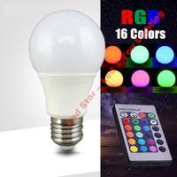 Wholesale Led Candle Bulb Remote - RGBW LED Light 10W E27 E26 LED Bulbs Lights Colorful Christmas Lights Home Decoration AC 85-265V + IR Remote Controller