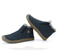 Wholesale Warm Furry Boots - Men Winter Snow Shoes Lightweight Ankle Boots Warm Waterproof Botas Mens Rain Boots 2016 New Furry Booties Shoes For Men C#002