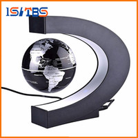 Wholesale map japan - Floating C Shape Magnetic Levitation Floating Globe World Map Fashion Home Decoration LED Christmas Novelty LED Light