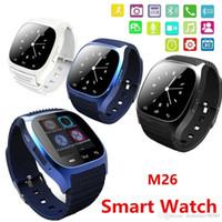 melhores telefones de relógio de pulso venda por atacado-Bluetooth smart watch m26 relógio de pulso para o iphone samsung htc android telefone android saúde melhor venda vs u8 dz09 gt08 a1 apple watch