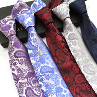 Wholesale Green Neckties For Men - Free Shipping Wholesale Paisley Mens Tie Neckties Fashion Classic Handmade Wedding High Quality 100% Jacquard Woven Silk Ties For Men