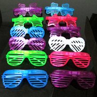 Wholesale New Shutter Fashion - fashion Shutters Shape LED Flashing Glasses Light up kids toys christmas Party Supplies Decoration glowing glasses free shipping