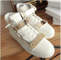Wholesale High Ankle Boots For Men - 2016 NEW Men's Women's sneakers fashion winter shoes high-top sneaker for wmeort ankle boots men warm casual shoes Lace-up
