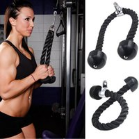 Wholesale Coated Rope - Gym Bodybuilding Tricep Rope Fitness Equipment 70cm Heavy Duty Coated Nylon Rope Back Shoulders Abdominal Training