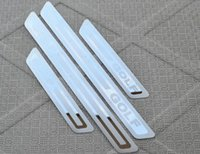 Wholesale Vw Golf Scuff Plate - For vw Volkswagen Golf 6 2009 2010 2011 2012 Stainless Steel Scuff Plate Door Sill Ultrathin Threshold Strip Welcome Pedal Accessories 4pcs