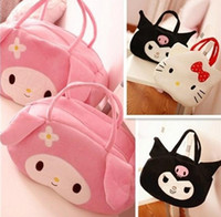 Wholesale Mummy Bags Nursery - 3pcs lot Cute Melody Bunny Kitty Cat Diaper Bag Mummy Mami Bag Baby Diaper Bag Nursery Bag Mama Bag Combination KB424