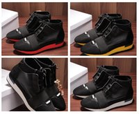 Wholesale Top Brand Name Leather Shoes - 2017 Original Box Name Brand Unisex Casual Shoes Flat Fashion Socks Boots Woman New Elastic Cloth High Top Runner Man Shoes Outdoors