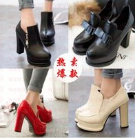 Wholesale European American Heels Shoes - 2016 spring and autumn the new European and American ultra-high heels South Korean princess with the personality of deep-water shoes single