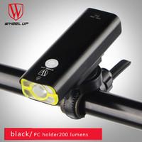 Wholesale Dive Flashlight Rechargeable Battery - Usb Rechargeable Flashlight Bike Front Handlebar Light Cycling Led Light Battery Waterproof WheeL UP Front Bike Light 2505097