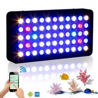luz coral dimmable venda por atacado-WIFI 165 w aquário marinho led iluminação Dimmable Full Spectrum levou luz do aquário para o recife de coral tanque de peixes estoque estoque nos EUA / DE