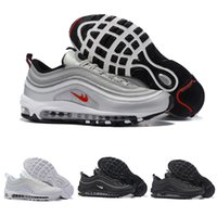 Wholesale Cheap Leather Sole Shoes - 2016 Mens Fashion Maxes 97 Running Shoes Cheap Maxes Sole Cushions Sports Basketball Casual Shoes Eur 40-46