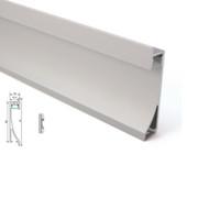 lampe murale 15w achat en gros de-50 X 1M ensembles / lot Profilé d'aluminium à la maison de conception et profilé d'extrusion de mur enfoncé pour des lampes de rondelle ou de plafond