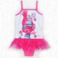 Wholesale Kids Swim Dress - Girls dress Bikini Swimsuit Kids Ruffled Swimming Suit For Girl Children Bathing Suit Maillot Bikini