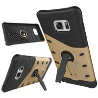 Wholesale Galaxy Note Two Case - Ultral Thin Samsung Galaxy Note 7 Two in one Armor case with 360 rotating Kickstand Hybrid Phone Defender Cover for Samsung Galaxy Note 5
