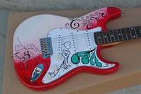 Wholesale electric st guitar body for sale - Custom Shop Jimi Hendrix s Red Guitars Monterey Tribute Hendrix Monterey Electric Guitar China ST Rare Guitars String Thru Body