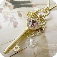 ametist taç kolye toptan satış-Ametist kolye, kazak kolye, taç ve taç ve ametist aşk anahtar kolye ile dekorasyon, ücretsiz kargo ve yüksek kalite