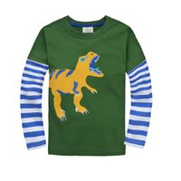 Wholesale Dino Boy - Dino Children t-shirts Sleeved cotton boys t shirts jersey girls dress outfits tops wholesale jumping beans kids tee shirts