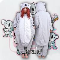 Wholesale Mascot Animal Costume Koala - Hot Koala Animal Hoodie Animal Costume Adult Mascot Unisex Sleepwear Cheshire Adult Kigurumi Pajamas Animal Costume