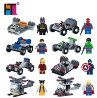 Marvel Super Heroes Batman Captain America avec Voiture Avengers Minifigures Ensembles de blocs de construction Modèle Brique Jouets Legoe Compatible