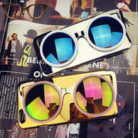 Wholesale Bling Glasses Case - New Fashion Cool Bling 3D Glasses phone Case For Apple iphone 5 6 6 plus Hard Phone Cover Back Cases DHL Fast Shipping
