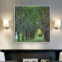 Wholesale gustav klimt pictures - Famous Gustav Klimt Landscapes Oil Painting Canvas Printings Modern Abstract Wall Art Picture for Living room Home Decor Unframed