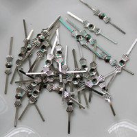 100pcs 45mm Chandelier Lame Parti di perline di cristallo Connettore di metallo Bow Tie Bowtie Pins