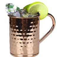 ingrosso tumblers di rame-Tazza rame Tazza mulo Mosca Tazza tazze martellato Bicchieri in acciaio inox Bicchieri per birra Bicchieri per vino Bicchiere da cocktail per bar Drinkware per feste