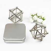 Wholesale Neodymium Magnet Toys - Neodymium Magnet Bars And Magnetic Buckyballs Creative Children Intellectual Toys Metal Balls Reduce Pressure High Quality 32mt C