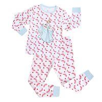 Wholesale Grils Underwear - Wholesale 2016 Childrens grils babys kids new spring winter princess printed long sleeve Pajamas Leisure wear underwear sets 6 sets