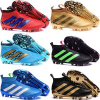 Wholesale Cheapest Kids Winter Shoes - 2016 new ACE 16+ PureControl FG Slip On Men's Soccer Shoes Boots Men Cheap Performance Ace 16 Cleats Football Sneakers Kids shoes