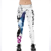 Wholesale Ladies Tiger Leggings - Wholesale Free Shipping 3D Print Sporting Leggings Tiger Grid Knitted Fitness Lady Pencil Pants Workout Clothing