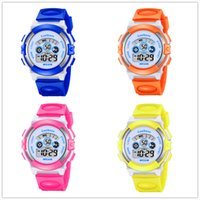Wholesale pin electronics - Cartoon Children Kids Watch Boys Girls Multifunction Electronic LED Digital Wristwatch Students Sport Waterproof Watches Friend Gift Watch