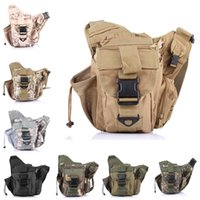 Wholesale Tactical Climbing Pack - 6 Pocket Tactical Waist Pack Military Fanny Packs Waterproof Hip Belt Bag Pouch For Hiking Climbing Outdoor Bumbag E597E