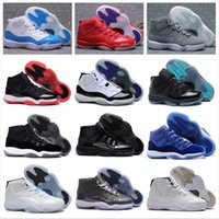 Wholesale Hard Coolers - High Quality Retro 11 Space Jam 2018 Best Quality Bred Gama Blue Basketball Shoes Men 11s Concords 72-10 Legend Blue Cool Grey Sneakers