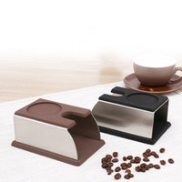 Wholesale Steel Coffee Tamper - Silicone Espresso Tamper Holder Removable Non Slip Coffee Press Powder Seat Stainless Steel Handle Mat Steady Durable 20jf B R