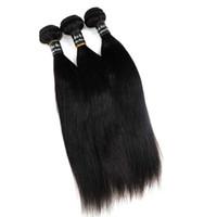 ingrosso capelli umani brasiliani colorabili-Trame di capelli umani vergini brasiliani trame di capelli lisci 8 ~ 34 pollici estensioni dei capelli tenditori indiani malesi peruviano indiano