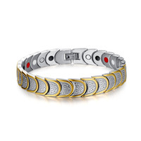 Wholesale germanium infrared bracelet for sale - Group buy 22 cm Men s Gold Color Healing Energy Infrared Magnetic Germanium Stainless Steel Bracelet Bangle For Men Chain Link Valentine s Gift B862S