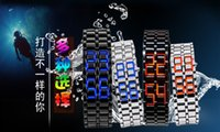 Wholesale Volcano Battery - 2016 Hot sell 2pcs lot GT classic LED lava watches students iron warriors chains watches fashion lovers watches volcano watches sports watch