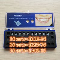 10 set ORMAER Dental Staffa In Ceramica Dental Ortodontico Bretelle 5 * 5 Roth 018/022 MBT 022 345 ganci Materiale Dentale Spedizione Gratuita Nuovo