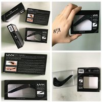 Wholesale makeup tips color - 2017 Christmas New Hot Makeup NYX The Curve Felt Tip Liquid Eye Liner color Jet Black NEW IN BOX Waterproof